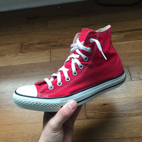 Red Converse Chuck Taylors High Tops